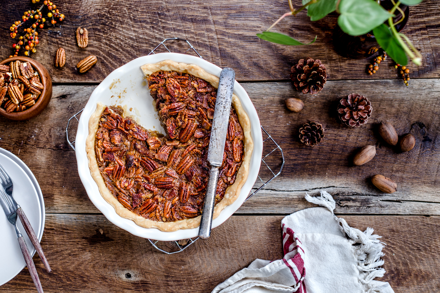 Bourbon Bacon Pecan Pie from Jelly Toast | jellytoastblog.com