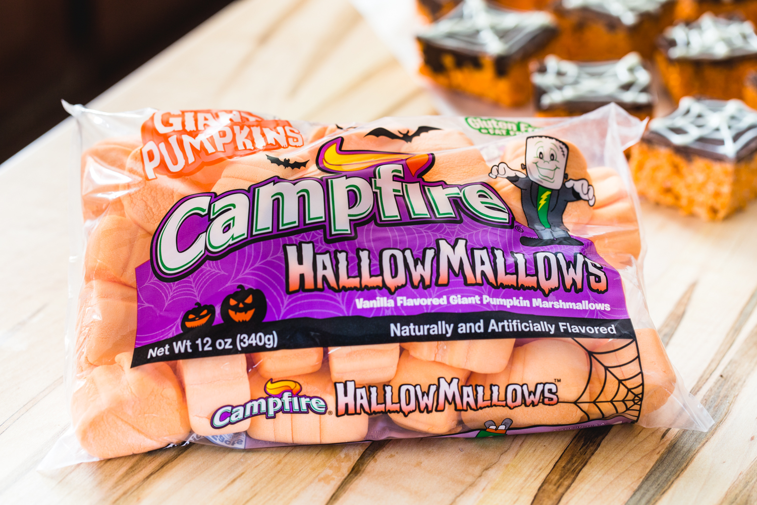 Spider Web Cereal Treats made with Campfire HallowMallows