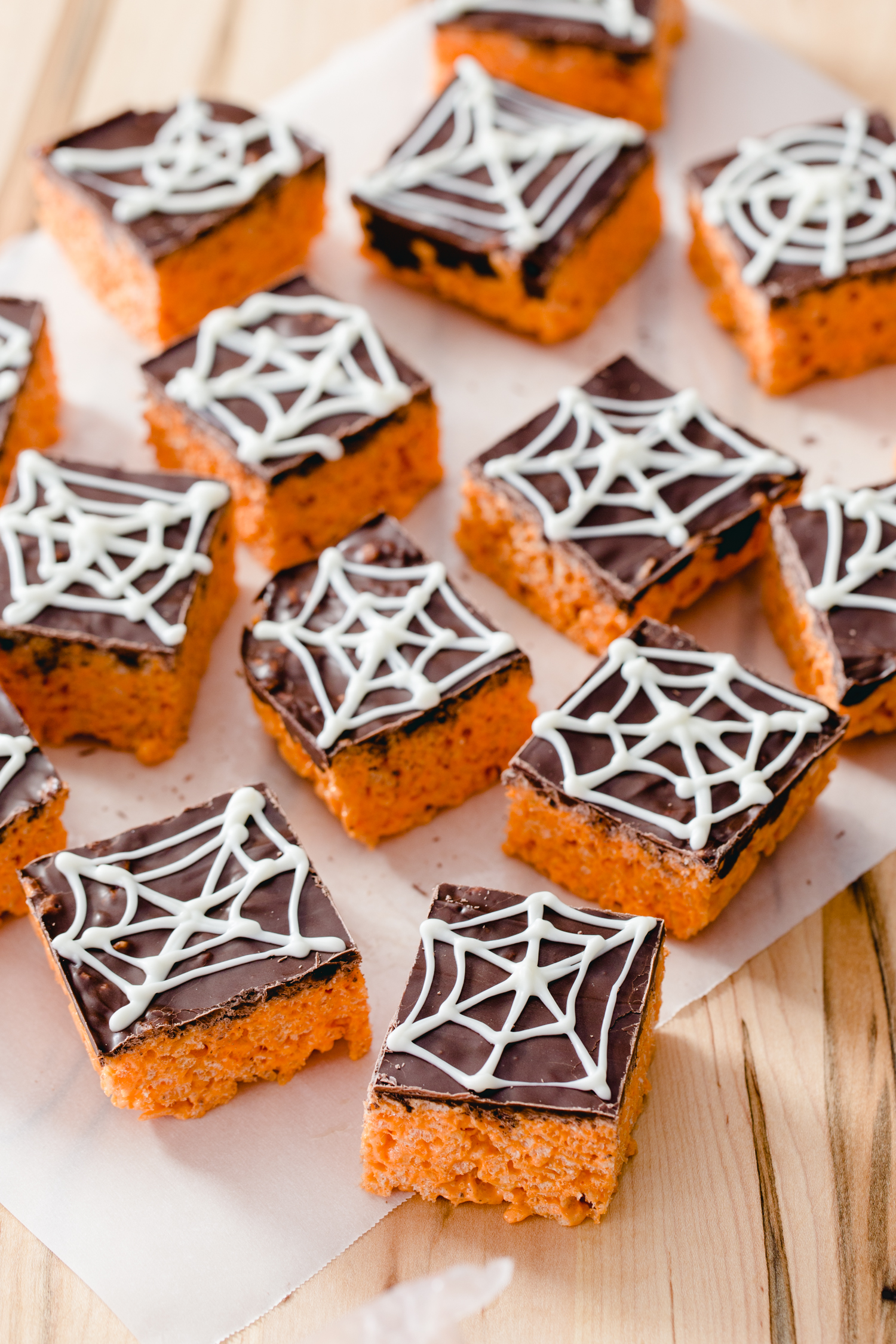 Spider Web Cereal Treats with Campfire HallowMallows from Jelly Toast