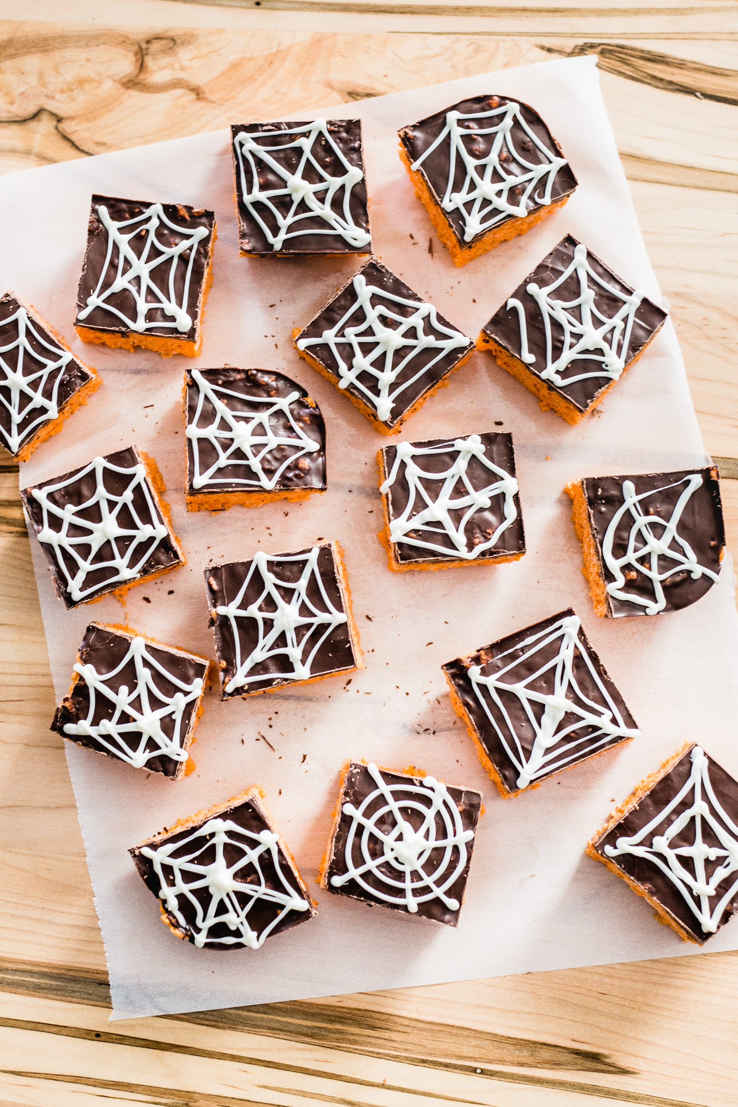 Spider Web Cereal Treats from Jelly Toast made with Campfire HallowMallows