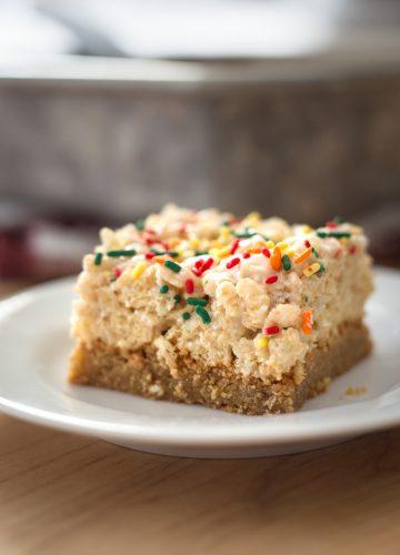 Maple Blondie Crispy Treats from Jelly Toast Blog jellytoastblog.com