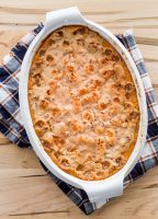 Marshmallow Pecan Sweet Potato Casserole with Campfire Mini Marshmallows