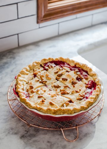 Tart Cherry Amaretto Pie from Jelly Toast jellytoastblog.com