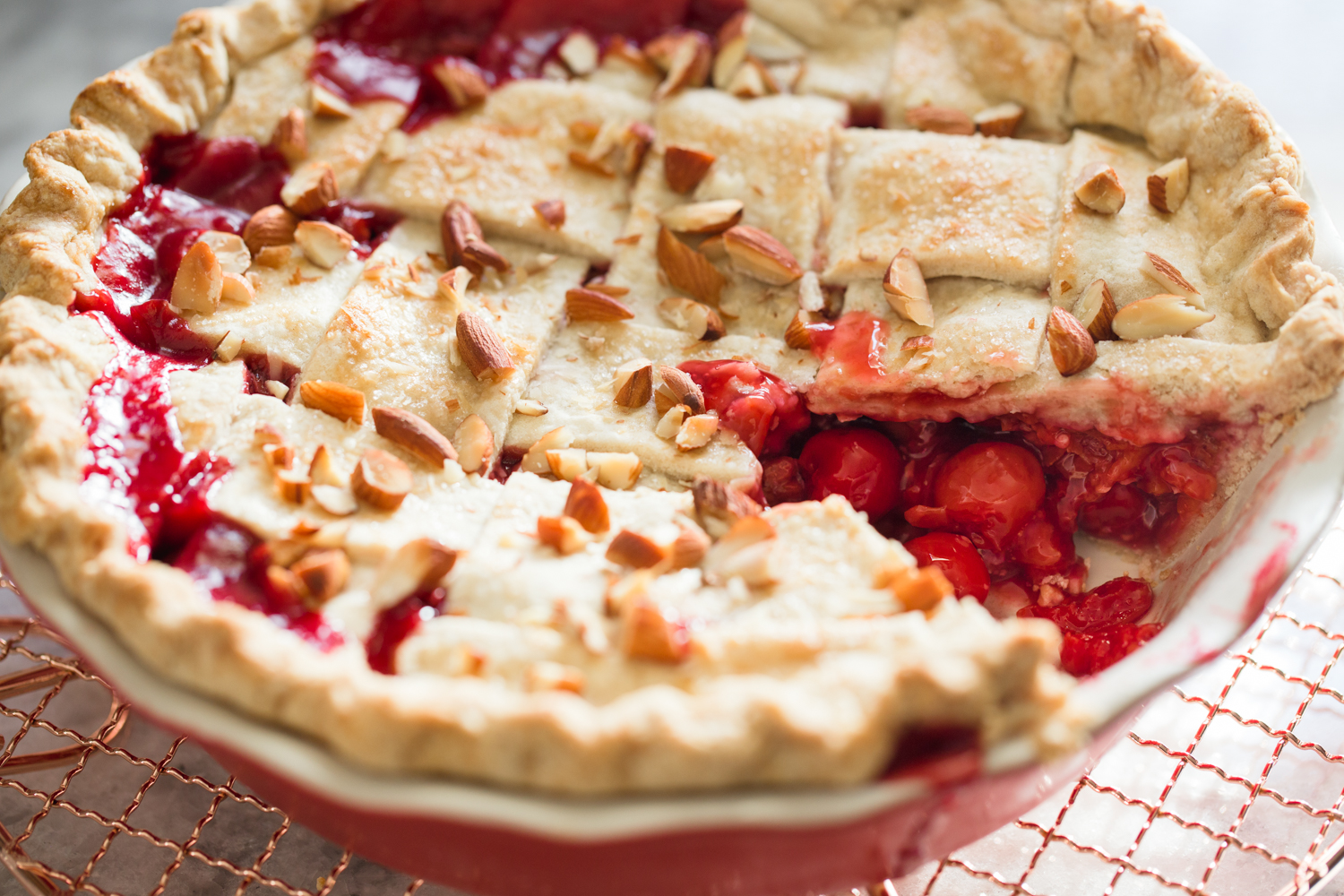 Tart Cherry Amaretto Pie