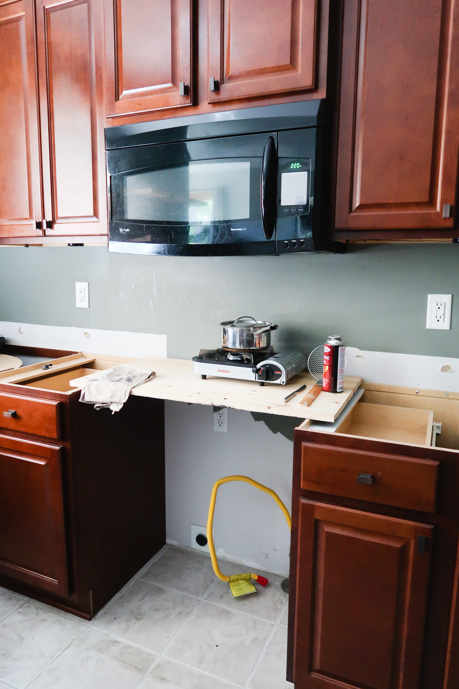Diy Brick Kitchen Island Behind The Scenes Of Our Kitchen Renovation Jelly Toast