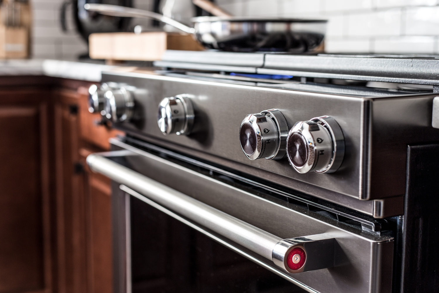 Black Stainless Stove Top Knobs