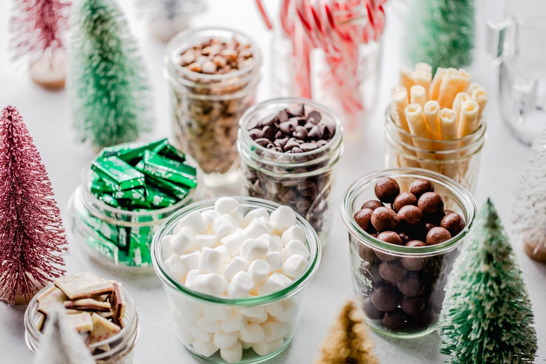 Christmas hot chocolate bar