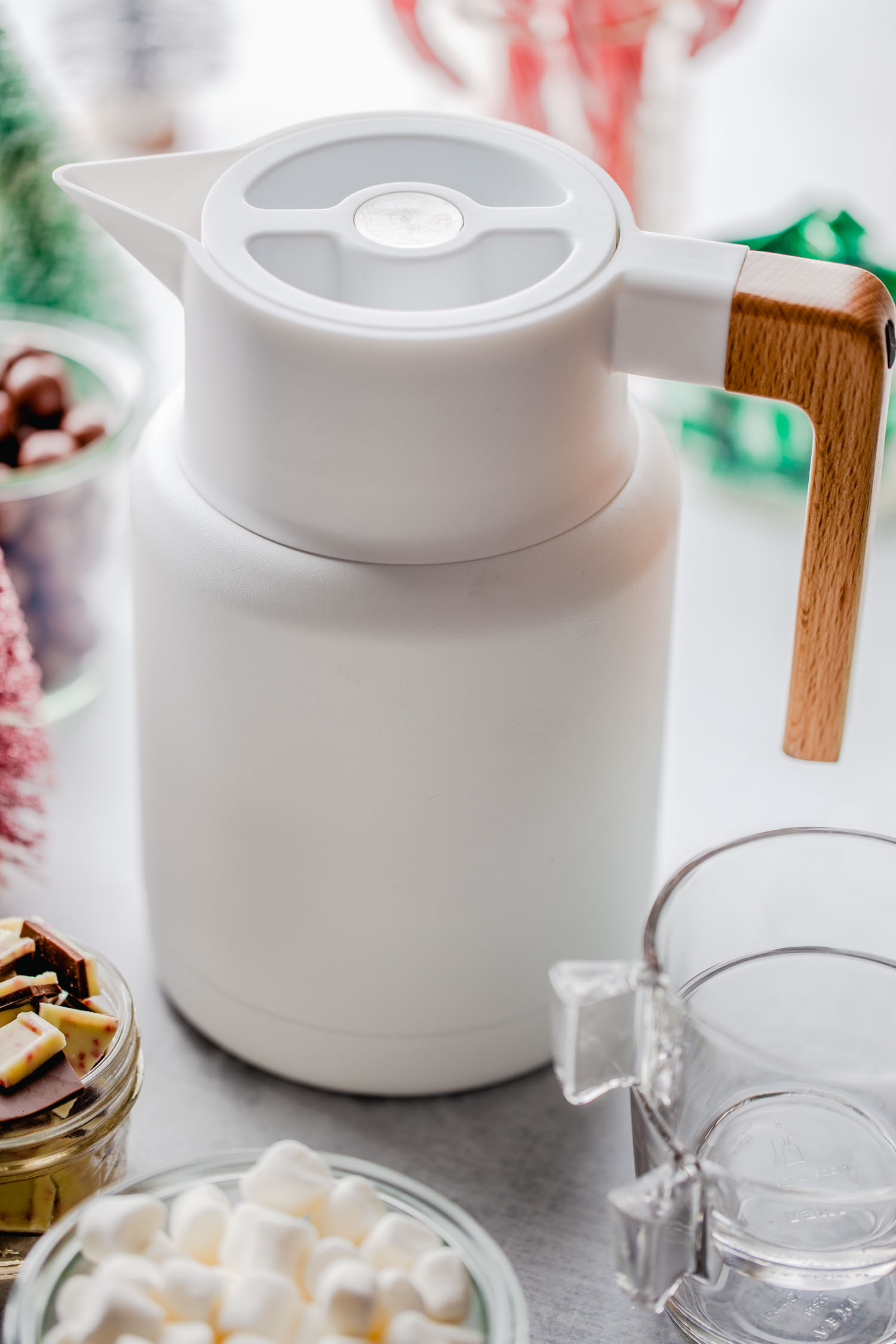 white thermos pitcher