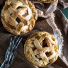 apple raisin pies in jars
