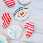 holiday flavor painted cookies