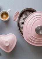 le creuset sugar pink heart cocotte giveaway
